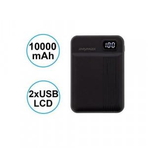 MyMAx MP11 PowerBank 10000mAh vč. LCD Type C/microUSB Black (EU Blister)