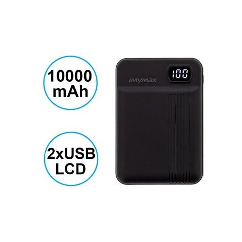 MyMAx MP11 PowerBank 10000mAh vč. LCD Type C/microUSB Black (EU Blister)