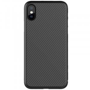 Nillkin Synthetic Fiber Ochranný Zadní Kryt Carbon Black pro iPhone X / Xs