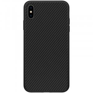 Nillkin Synthetic Fiber Ochranný Zadní Kryt Carbon Black pro iPhone Xs Max