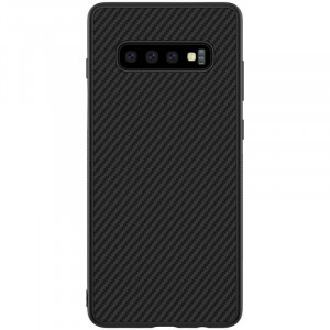 Nillkin Synthetic Fiber Ochranný Zadní Kryt Carbon Black pro Samsung G973 Galaxy S10