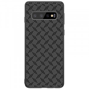 Nillkin Synthetic Fiber Ochranný Zadní Kryt Plaid Black pro Samsung G973 Galaxy S10