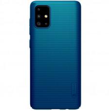 Nillkin Super Frosted Zadní Kryt pro Samsung Galaxy A71 Peacock Blue