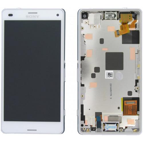 LCD Displej + Dotykové sklo Sony Xperia Z3 Compact D5803 White - originál (bulk)