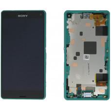LCD Displej + Dotykové sklo Sony Xperia Z3 Compact D5803 Green - originál (bulk)