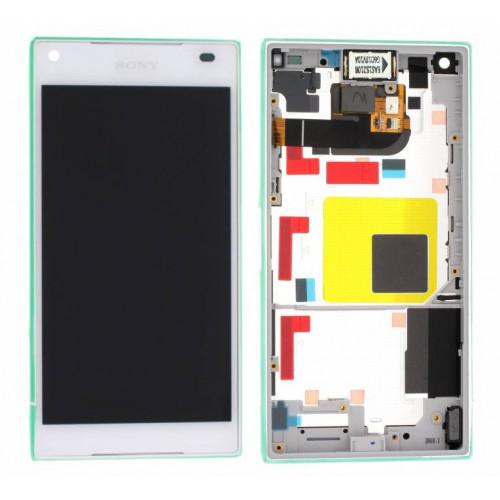LCD Displej + Dotykové sklo Sony Xperia Z5 Compact E5803 White - originál (bulk)
