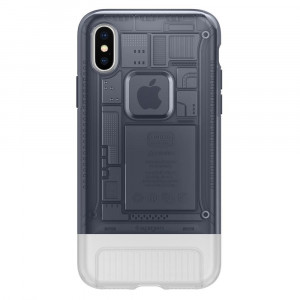 Spigen Classic C1 Cover pro iPhone X/XS Graphite (EU Blister)