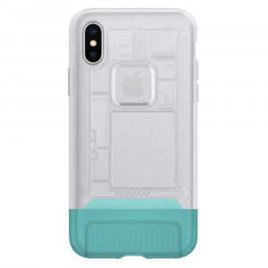 Spigen Classic C1 Cover pro iPhone X/XS White (EU Blister)