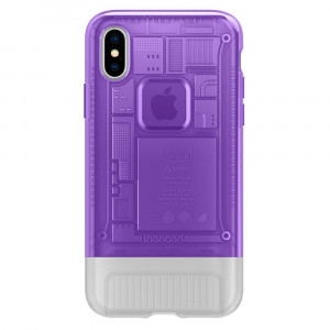 Spigen Classic C1 Cover pro iPhone X/XS Purple (EU Blister)