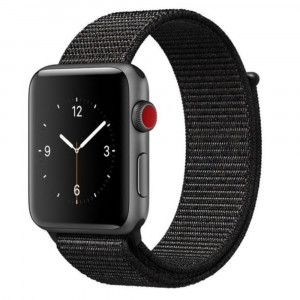 Tactical 538 Látkový Řemínek pro Apple Watch 42-44mm Black (EU Blister)