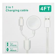 Tactical USB Nabíjecí kabel 2v1 Lightning a pro Apple Watch 1/2/3/4 (EU Blister)