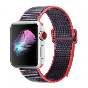 Tactical 550 Látkový Řemínek pro Apple Watch 38-40mm Grey / Rose (EU Blister)