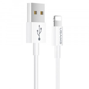 USAMS SJ283 Datový Kabel Lightning White (EU Blister)