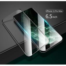 USAMS BH548 Full Cover Tvrzené Sklo 0.33mm pro iPhone 11 Pro Max Black