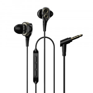 Dual Dynamic Drivers Earphones UiiSii BA-T8 mini jack 3,5mm Black