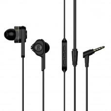 Dual Dynamic Drivers Earphones UiiSii BA-T6 mini jack 3,5mm Black