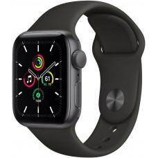 Apple Watch SE 40mm, Space Gray, Black Sport Band