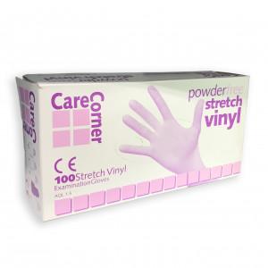Jednorázové vinylové rukavice Care Corner, 100ks, velkost M