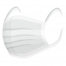 DongYuan rouška na tvar - 100% bavlna bílá