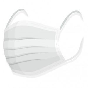 Rouška na tvar - 100% bavlna bílá