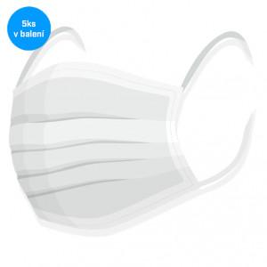 Rouška na tvar 5ks - 100% bavlna bílá