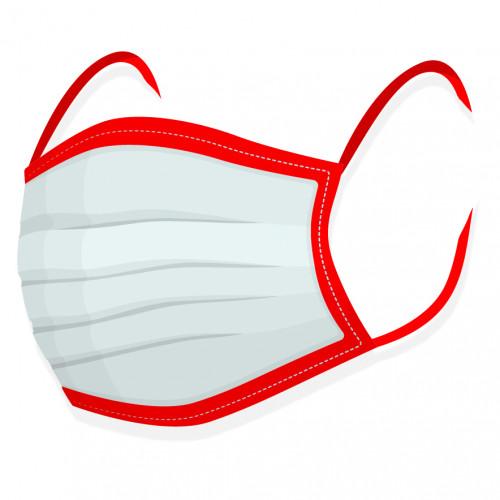 Rouška na tvar - 100% bavlna červená