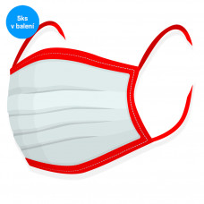 Rouška na tvar 5ks - 100% bavlna červená