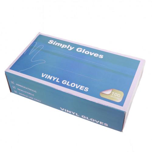 Jednorázové Vinylove rukavice Simply Gloves, 100ks, velkost XL