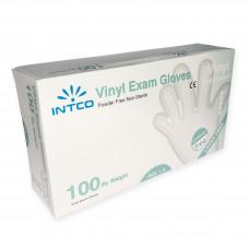 Jednorázové vinylové rukavice INTCO, 100ks, velkost XL
