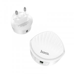 "Wall charger ""C68A Shell"" single USB port QC3.0 EU White"