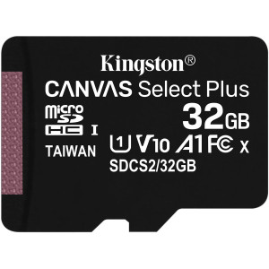 Kingston Canvas Select Plus microSDXC UHS-I Class 10 card 32GB + SD adaptér (EU Blister)