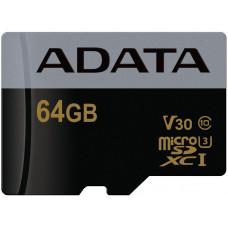 ADATA Premier Pro microSDXC/SDHC UHS-I U3 Class 10 (V30G) 64GB + adaptér (EU Blister)