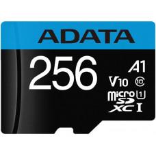 ADATA Premier microSDXC/SDHC UHS-I Class10 (A1, V10) 256GB + adaptér (EU Blister)