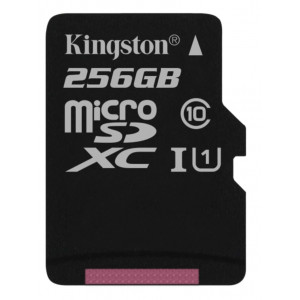 Kingston Canvas Select micro SDXC UHS-I U1 256GB + adaptér (EU Blister)