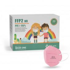 Mask One DY-06 dětský respirátor FFP2 NR růžový 20ks/bal