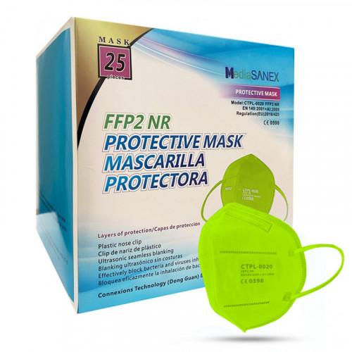 Media Sanex CTPL-0020 Respirátor FFP2 NR zelená 25ks/bal