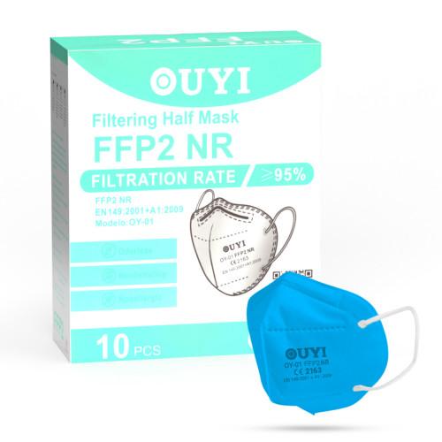 UYI OY-01 Respirátor FFP2 NR azůrová 10ks/bal