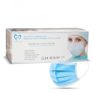 ZHONGTAI MEDICAL rouška jednorázová 3 vrstvá modrá 50 ks