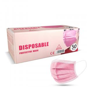 PinkLady rouška jednorázová 3 vrstvá růžová 50 ks