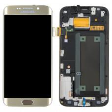 LCD Displej + LCD Sklíčko + Dotykové sklo Samsung G925F Galaxy S6 Edge Gold Platinum - originál (Service Pack)