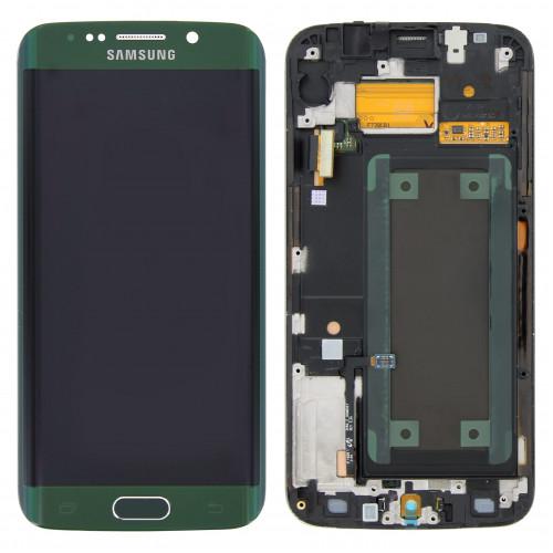 LCD Displej + LCD Sklíčko + Dotykové sklo Samsung G925F Galaxy S6 Edge Green Emerald - originál (Service Pack)
