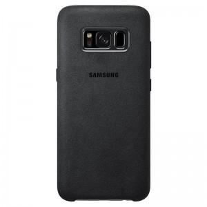 Pouzdro Samsung Alcantara pro Galaxy S8 plus - dark grey